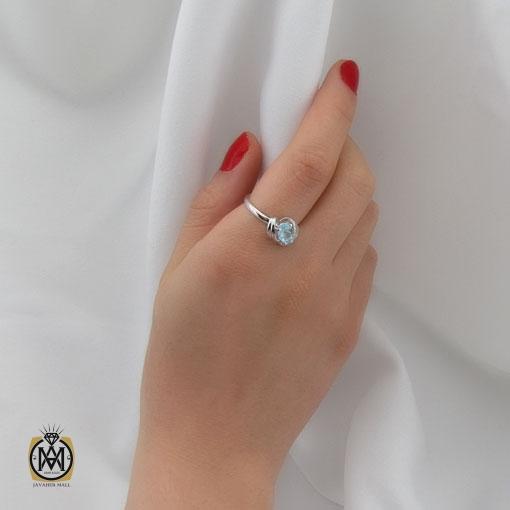 سرویس توپاز آبی طرح رکسانا زنانه - کد 7266 - انگشتر زنانه 1
