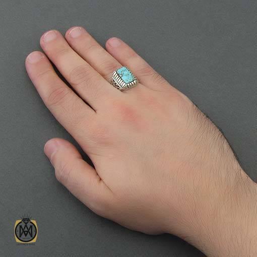 انگشتر فیروزه مردانه دست ساز – کد ۱۰۸۸۳