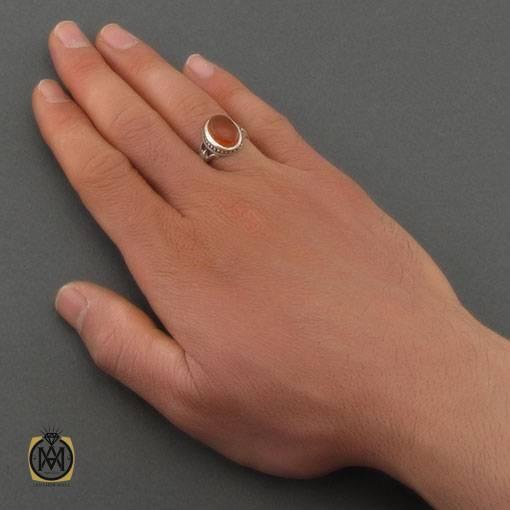 انگشتر عقیق یمن خوش رنگ مردانه – کد ۱۰۸۷۰