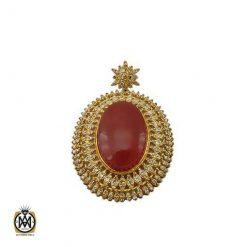 مدال عقیق یمن شرف الشمس با حکاکی یا حی یا قیوم – کد ۳۲۳۵