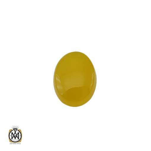 نگین عقیق زرد با حکاکی شرف الشمس – کد ۹۰۸۵