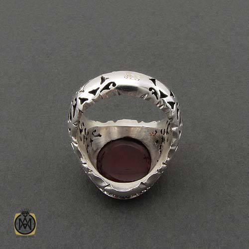 انگشتر عقیق خطی جواهر مال
