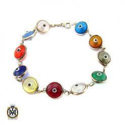 دستبند نقره زنانه چشم زخم