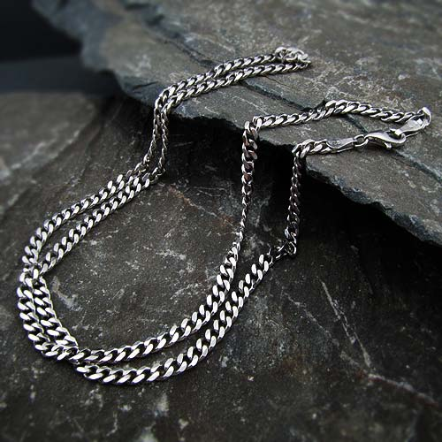 زنجیر گردن مردانه نقره کارتیه