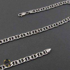 زنجیر گردن مردانه نقره