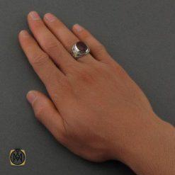 انگشتر عقیق یمن زمرد یاقوت مردانه