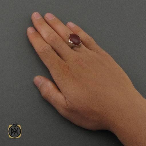 انگشتر عقیق یمن قرمز مردانه