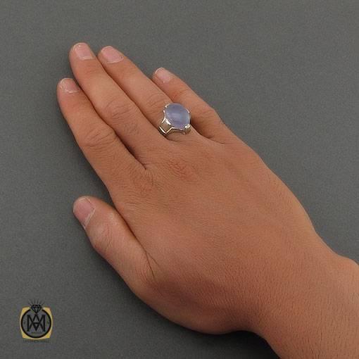 انگشتر عقیق یمن کبود مردانه – کد ۱۰۹۵۸