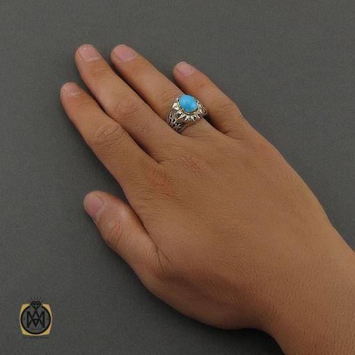 انگشتر فیروزه نیشابوری زنانه