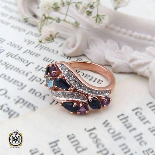 انگشتر یاقوت کبود جواهر زنانه