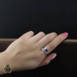 انگشتر یاقوت کبود اصل زنانه