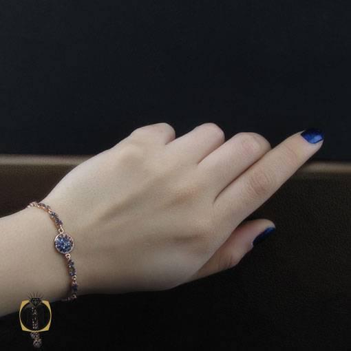 دستبند نقره میکرو طرح دایانا زنانه – کد ۱۱۳۰