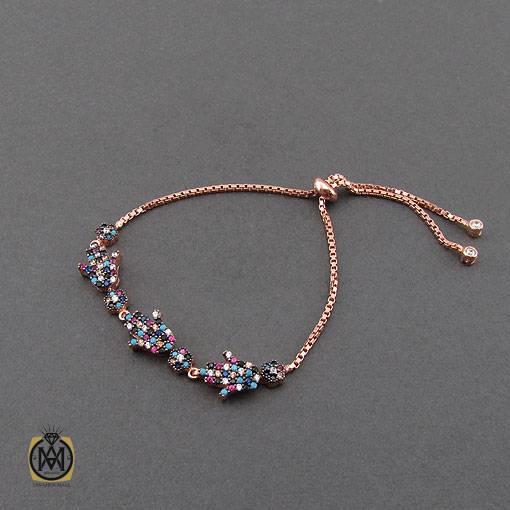 دستبند نقره میکرو طرح سلین زنانه – کد ۱۱۳۹
