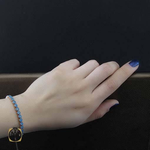 دستبند نقره میکرو طرح فلاور زنانه – کد ۱۱۲۱