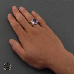انگشتر آمتیست مردانه
