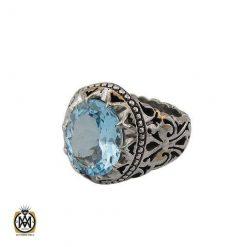 توپاز آبی مردانه جواهرمال