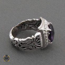 جواهرات نقره مردانه با نگین آمتیست