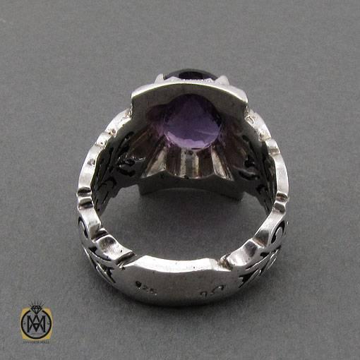 انگشتر آمتیست خوش رنگ و مرغوب  مردانه – کد ۱۱۰۷۱