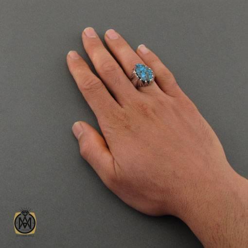 انگشتر فیروزه مردانه نیشابوری
