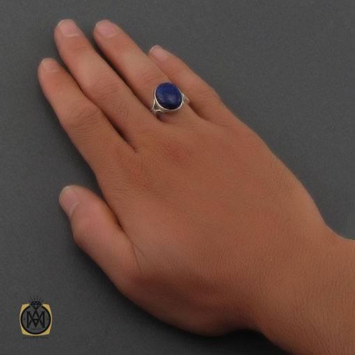 انگشتر لاجورد خوش رنگ مردانه – کد ۱۱۰۶۵