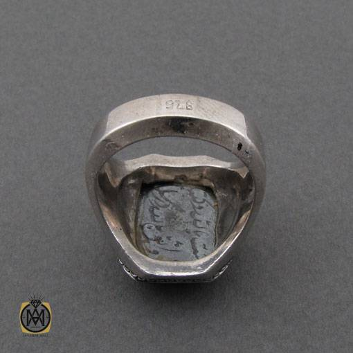 انگشتر حدید صینی با حکاکی هفت جلاله دست ساز – کد ۱۱۰۳۴