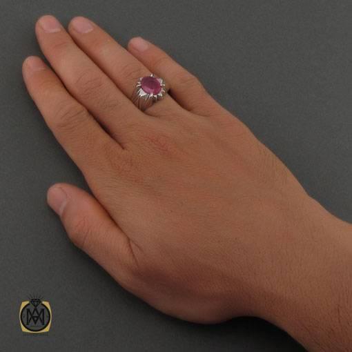 انگشتر یاقوت سرخ آفریقایی مرغوب دست ساز مردانه – کد ۱۱۱۱۰