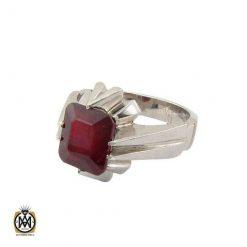 انگشتر یاقوت سرخ خوش رنگ مردانه هنر دست استاد شرفیان – کد ۹۰۰۳