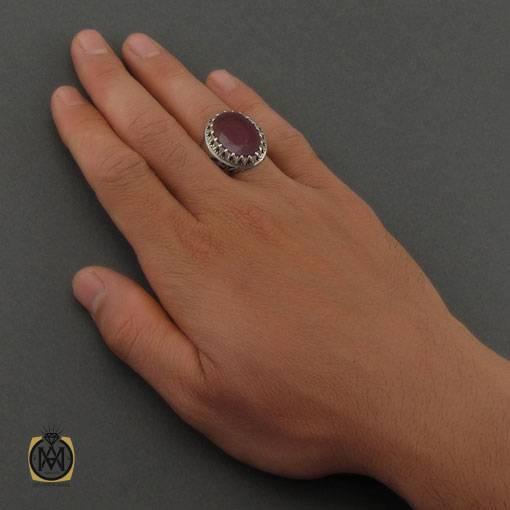 انگشتر یاقوت سرخ آفریقایی درشت و مرغوب دست ساز مردانه – کد ۱۱۱۱۵