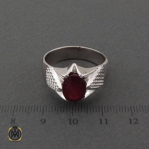 انگشتر یاقوت سرخ خوش رنگ و مرغوب دست ساز مردانه – کد ۱۱۰۹۷