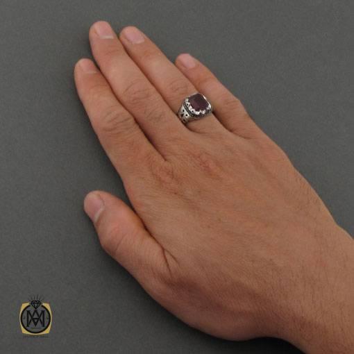 انگشتر یاقوت قرمز دست ساز