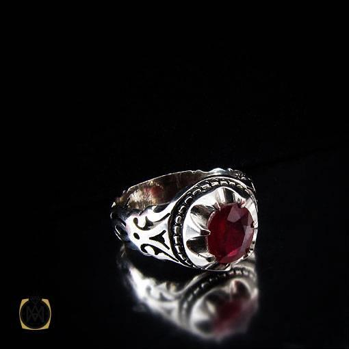 انگشتر یاقوت سرخ آفریقایی خوش رنگ مردانه – کد ۱۱۱۰۷