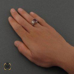 انگشتر یاقوت سرخ مردانه افریقایی