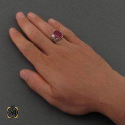انگشتر یاقوت قرمز مردانه
