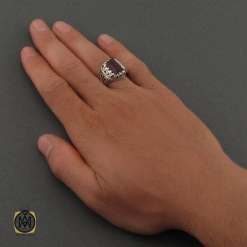 انگشتر یاقوت سرخ خوش رنگ و مرغوب رکاب دست ساز مردانه – کد ۱۱۱۲۰