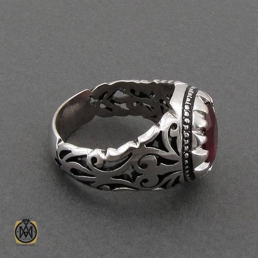 انگشتر یاقوت سرخ آفریقایی خوش رنگ دست ساز مردانه – کد ۱۱۱۰۰