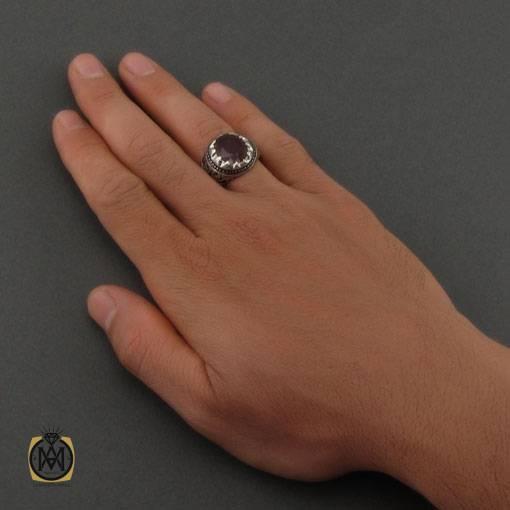 انگشتر یاقوت سرخ آفریقایی دست ساز مردانه – کد ۱۱۱۰۲
