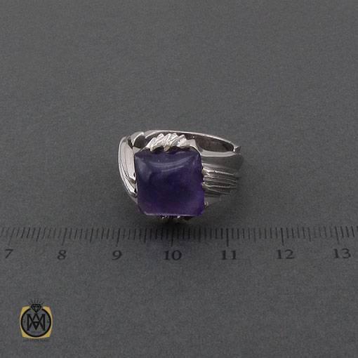 انگشتر آمتیست مرغوب و هنر دست استاد عرفان مردانه – کد ۱۱۰۸۵