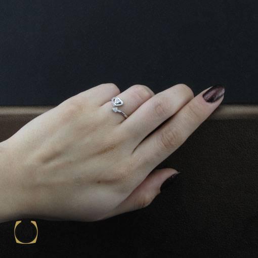 انگشتر نقره زنانه فری سایز جدید