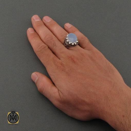 انگشتر عقیق کبود مردانه اصل