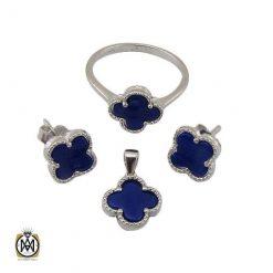 سرویس نقره آبی زنانه