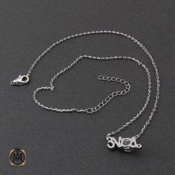 مدال و زنجیر نقره زنانه