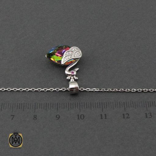 گردنبند نقره زنانه برند سواروسکی طرح قو – کد ۳۳۸۱