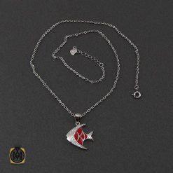 مدال میناکاری زنانه نقره