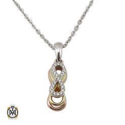 مدال نقره زنانه آب طلا بی نهایت