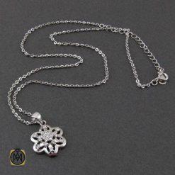 گردنبند نقره زنانه طرح شادی – کد ۳۳۷۴