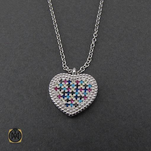 مدال نقره زنانه طرح قلب