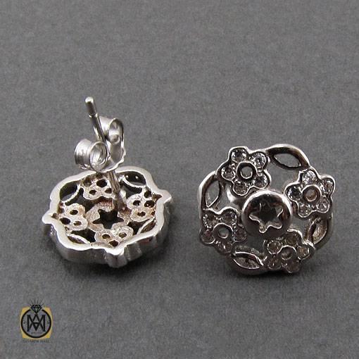 سرویس نقره زنانه طرح تابش - کد 7291 - گوشواره نقره زنانه