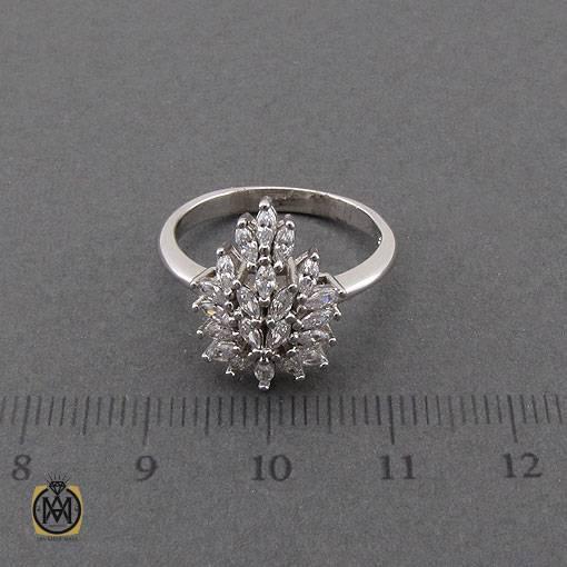 انگشتر نقره سولیتر زنانه طرح گیتی – کد ۲۴۳۶