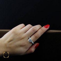 انگشتر نقره زنانه شیک