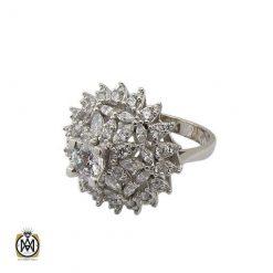 انگشتر نقره سولیتر زنانه طرح سانیا (1)